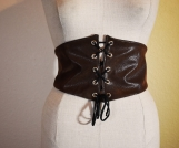Desert Warrior Faux Leather Belt- Brown