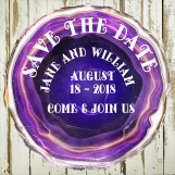Save The Date, Agate Slices Digital Art, Crystal, Gem, Rock,