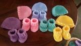 Crochet Newborn Beanies & Cuffed Booties