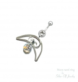 Moon Belly ring, summer jewelry, elven navel ring, navel ring