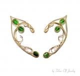 Tauriel Elven Ears, Elf Ranger, Tauriel costume, gold and green