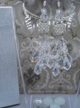 Crystal Chandelier Earrings Set