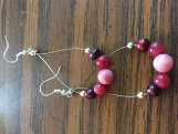 Assorted Pink Gemstone Earrings