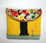 Autumn tree scene change purse
