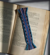 Blue scroll Bookmark