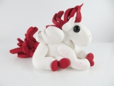 Clay pegasus sculpture figurine