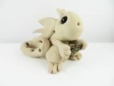 Clay tan dragon  sculpture figurine