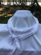 White Infinity Yarn Scarf
