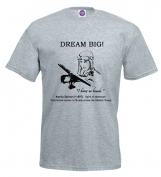 Inspiring Men's T-Shirt, Dream big, Amelia Earhart, Pilot Shirt