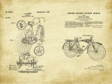 Bicycle Patent Art Duo-U.S. Shipping Included