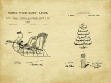 Christmas Patent Art Duo-U.S. Shipping Included