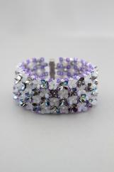 """Flower garden"" bracelet with a charm!"
