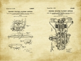 Ford Model A Patent Art Duo-U.S. Shipping Included