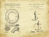 Nautical Patent Art Duo-U.S. Shipping Included