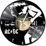 ACDC handmade vintage vinyl design clock