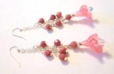 Callalily Earrings, Flower Bead Earrings, Floral Bead Earrings