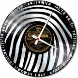 Finger print Loop-store handmade vintage double vinyl clock
