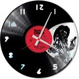 Iron maiden Loop-store handmade vintage double vinyl clock