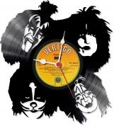 Kiss 2  Loop-store handmade vintage vinyl clock