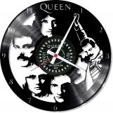 Queen 1 Loop-store handmade vintage vinyl clock