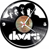 The doors Loop-store handmade vintage vinyl clock