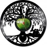 Tree of life Loop-store handmade vintage vinyl clock