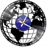 World blue Loop-store handmade vintage vinyl clock