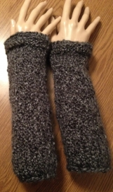 Outlander Inspired Gray Homespun Arm Warmers