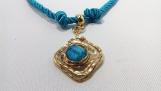 Turquoise blue choker- PANE034