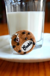 Cookie Dog Tag, Chocolate chip cookie dog tag, cookie pet tag