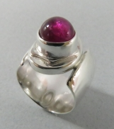 Sterling Silver Ring with Pink Tourmaline 3.5 ct