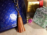 Tassel Bag Charm Key Ring w 100% Authenti Gucci upcycle