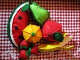 Felt Fruit Set w/ Toddler Tablecloth