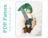 Legend of Zelda Crochet Pattern Link Baby Outfit Crochet Link Costume Diaper Set