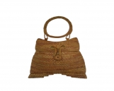 Rattan Clutches Handbag with Butterfly Closure, Natural Wedding Bags, Evening Rattan Bags