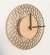 Wood Clock Nordic Design Wallclock wooden green living