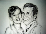 Special Anniversary Gift Pencil Portrait from Your Photos