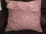 Beautiful Pink and white polka dot cushion