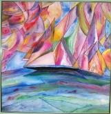 Fine Art, Original Painting,Fickle Winds~Silk Painting,