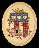American Heritage Rag Doll Plaque