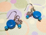 Beautiful Sterling Silver and Turquoise Pierced Earrings