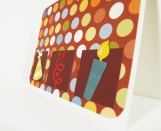 Handmade Birthday Card with Polka Dots