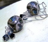 Metalised Lampwork Earrings