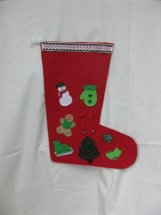 Red & Green Decorated Christmas Stocking