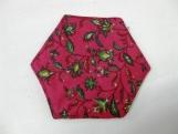 Red & Green Hexagonal Christmas Coasters