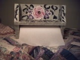SALE FREE SHIPPING hand painted wooden paper towel holder