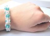 Turquoise 3D effect Swarovski Crystal Bracelet