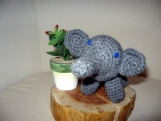 Grace the Grey Crochet Elephant