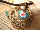 Enchantment Cloisonne Choker Necklace
