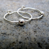 quicksilver-- beaded hoop earrings-- primitive series